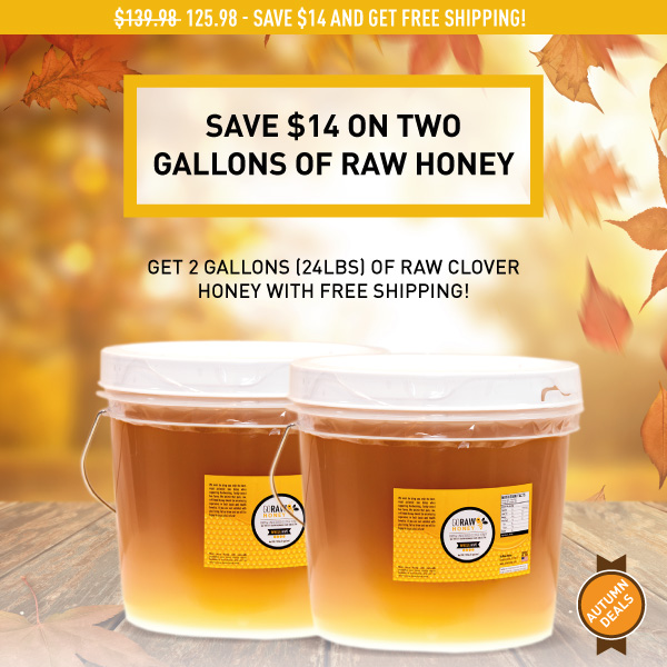 fall 2019 deal on double raw honey gallons