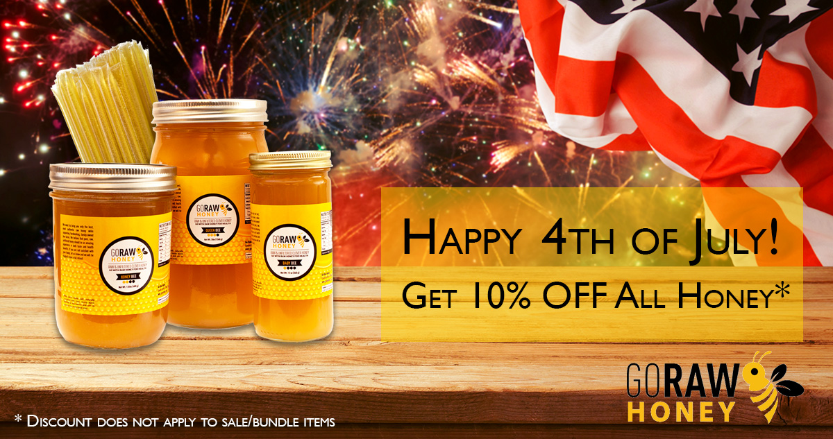 4th of July raw honey sale