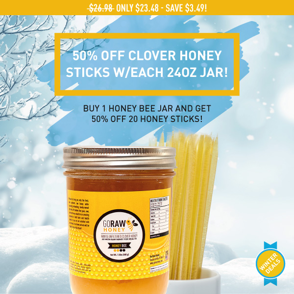 discounted raw honey sticks